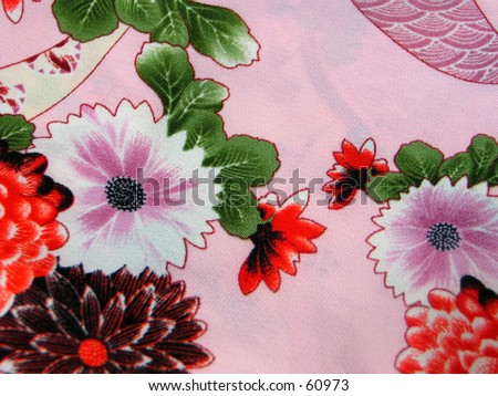 Oriental fabric - stock photo