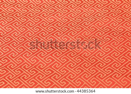 Oriental fabric brocade - stock photo