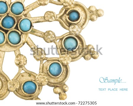 oriental jewelry with the place for your text - stock photo