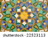 Oriental mosaic decoration in Casablanca, Morocco - stock photo