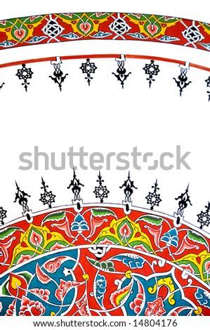 oriental pattern at the St Sophia in Istanbul, Turkey - stock photo