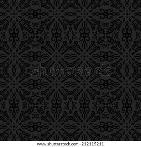 Oriental seamless  pattern with damask, arabesque and floral elements. Abstract background