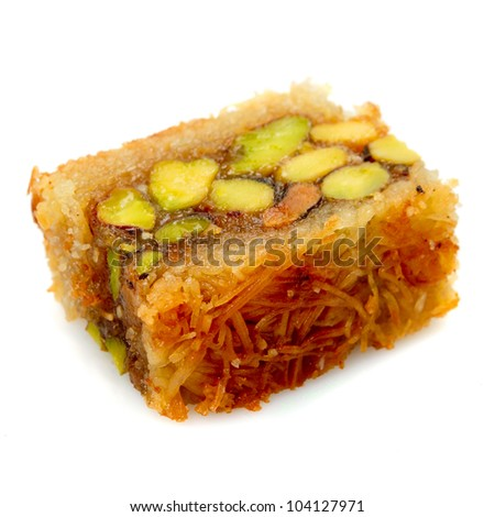 Oriental sweets on a white background - stock photo
