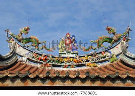 oriental temple roof architecture