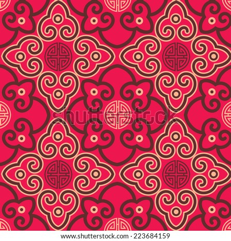 Oriental traditional background pattern design - stock photo