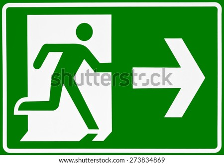 Orientation plate - direction arrow right- sign - Symbol - Green - stock photo