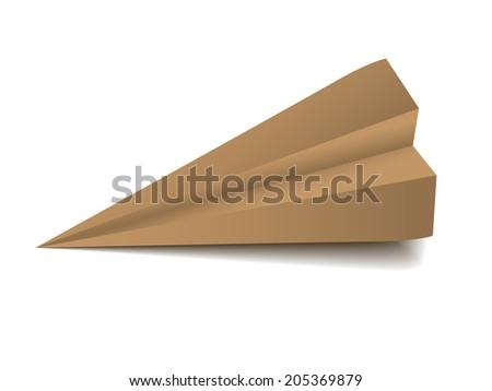 origami airplane - folded model - stock photo