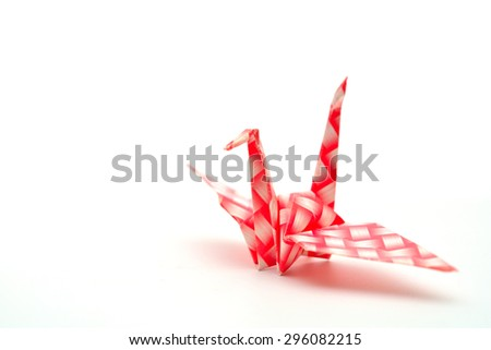 Origami Bird made of Recycle Paper - stock photo