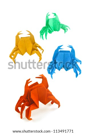 Origami crab - stock photo
