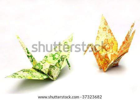 origami(crane) - stock photo