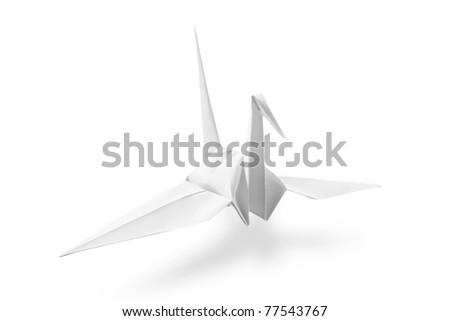 Origami Crane - stock photo