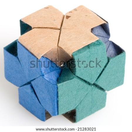 Origami Dice Closeup Stock Photo 21283021 Shutterstock
