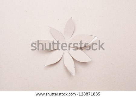 Origami  handmade cutout flower - stock photo