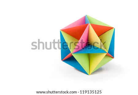 origami icosahedron - stock photo