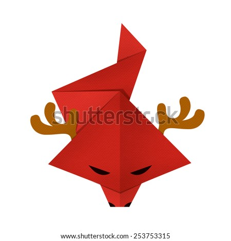origami paper a dragon china - stock photo
