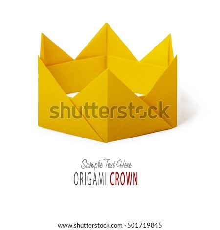 Origami paper crown