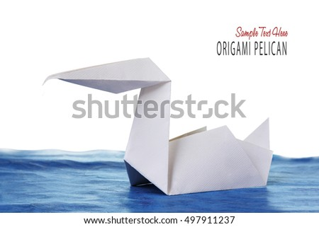 Origami Paper Pelican Stock Photo Royalty Free 497911237