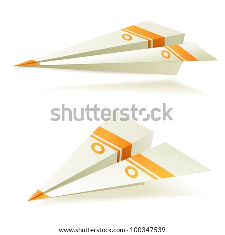Origami planes - stock photo