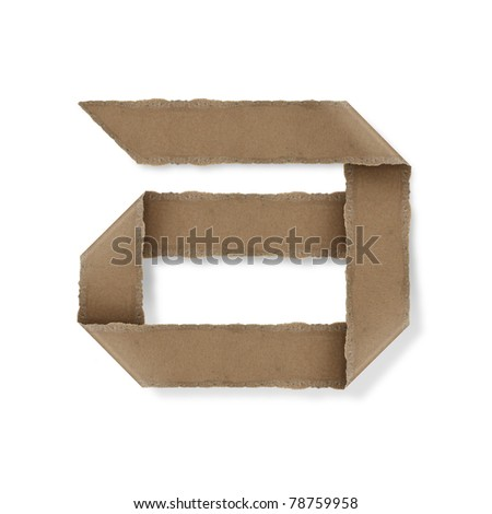 origami style alphabet letters. high resolution on white background. a - stock photo