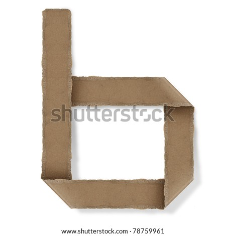 origami style alphabet letters. high resolution on white background. b - stock photo