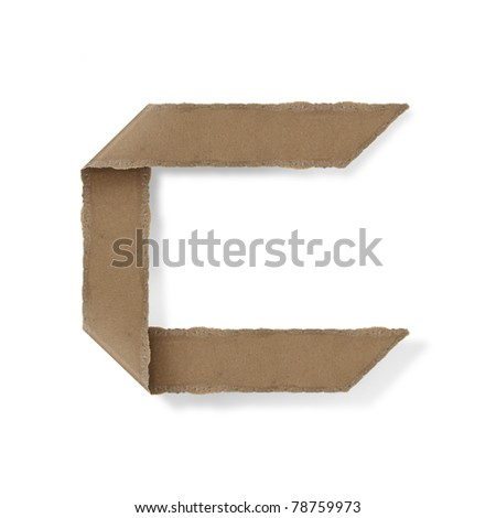 origami style alphabet letters. high resolution on white background. c - stock photo