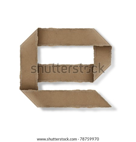 origami style alphabet letters. high resolution on white background. e - stock photo
