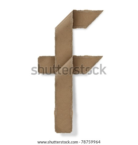 origami style alphabet letters. high resolution on white background. f - stock photo