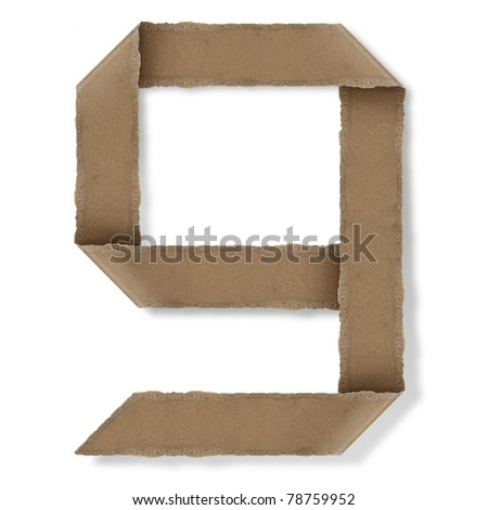 origami style alphabet letters. high resolution on white background. g - stock photo