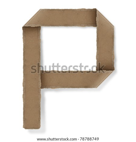origami style alphabet letters. high resolution on white background. p - stock photo