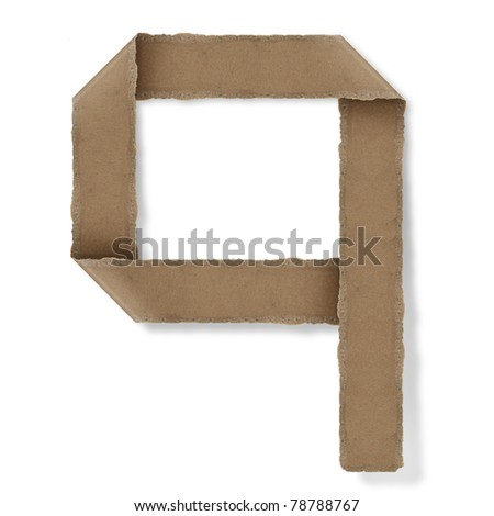 origami style alphabet letters. high resolution on white background. q - stock photo