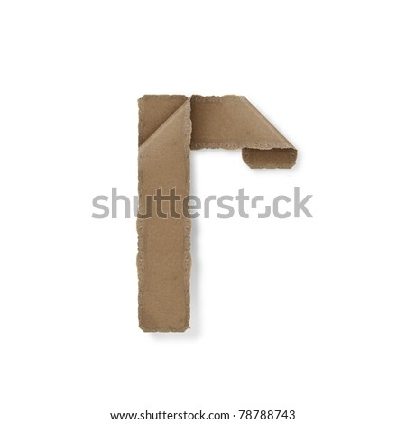 origami style alphabet letters. high resolution on white background. r - stock photo