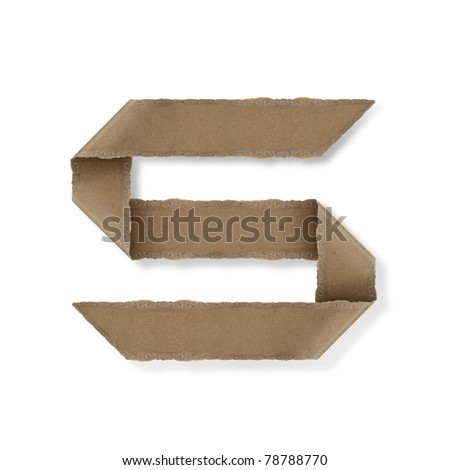 origami style alphabet letters. high resolution on white background. s - stock photo