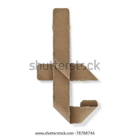 origami style alphabet letters. high resolution on white background. t - stock photo