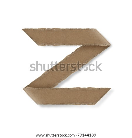 origami style alphabet letters. high resolution on white background. z - stock photo