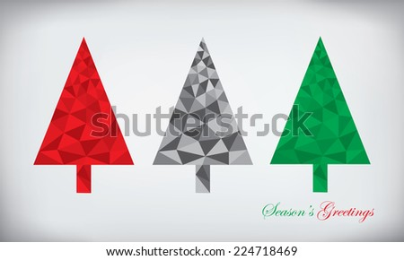 Origami style polygonal paper abstract christmas tree - stock photo