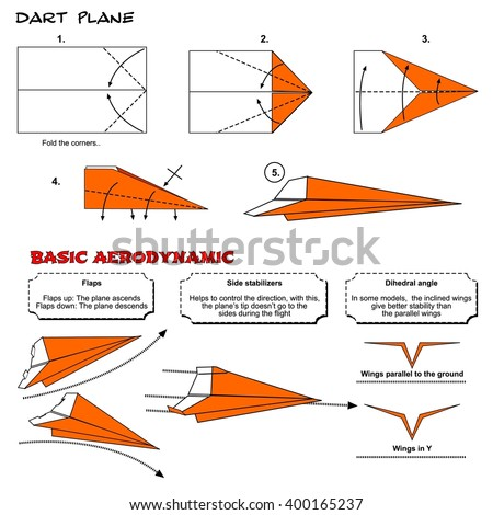 Origami Traditional Dart Plane Diagram Instructions Steps