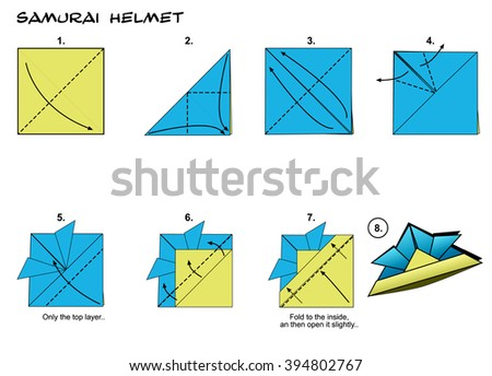 Origami Traditional Samurai Helmet Diagram Instructions Steps Paper Folding Art