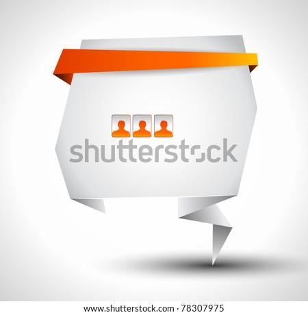 Origami Website - Elegant Design for Business Presentations. - stock photo