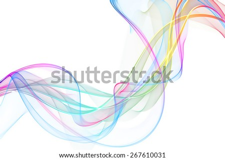 original abstract colorful wave - stock photo
