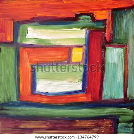 Original abstract oil painting on canvas