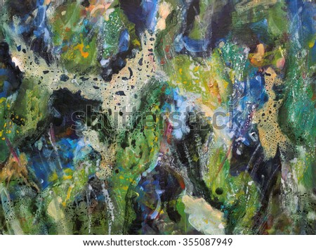 Original abstract painting in mixed media.