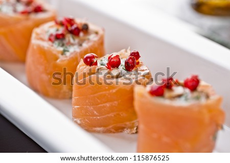 original and delicious looking appetizer - stock photo