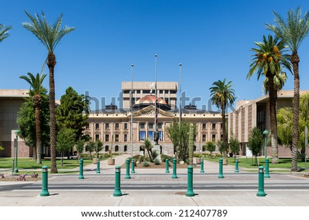 Original Arizona State Capitol building in Phoenix, Arizona - stock photo