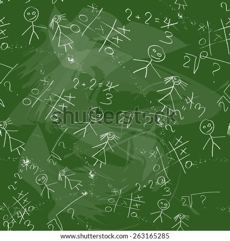 Original background with imitation of a school board green - stock photo