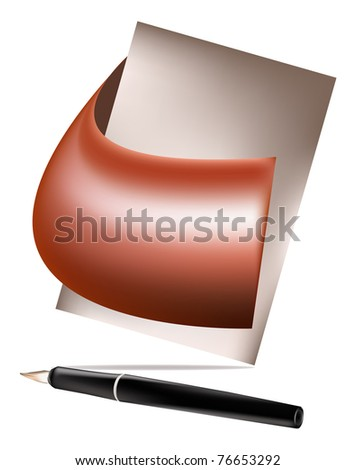 Original banner for placing of your advertising text - stock photo