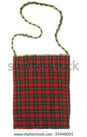 Original bulgarian pouch - stock photo