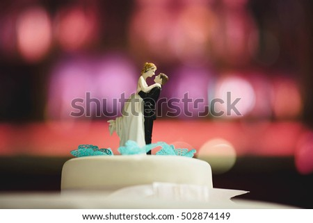 original cake prepared for the young couple