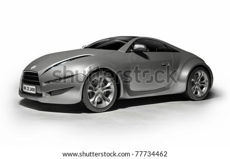 Original car design. Logo is a fake. - stock photo