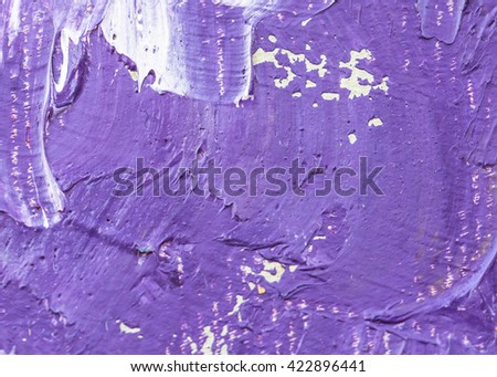 original colorful oil painting brush strokes texture background, purple  tone - stock photo