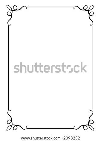 Original decorative ornamental border frame. White background.